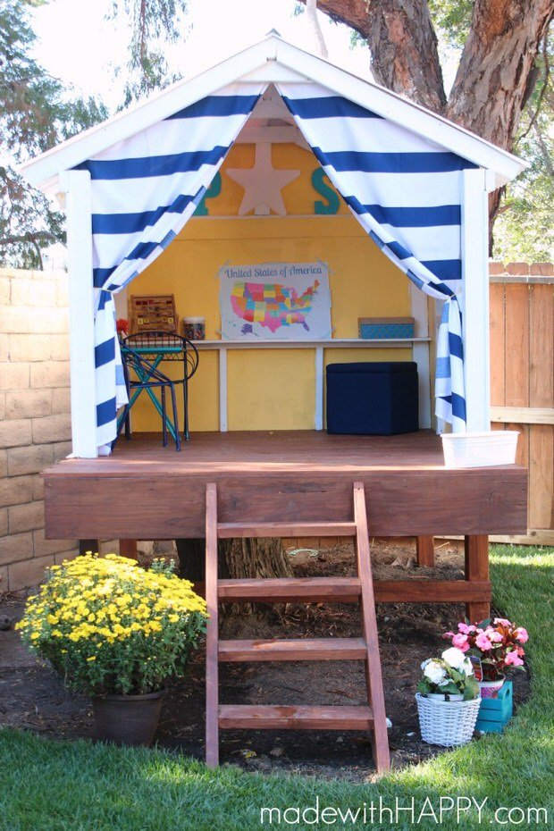 How to build a backyard playhouse the garden glove How to build outdoor playhouse