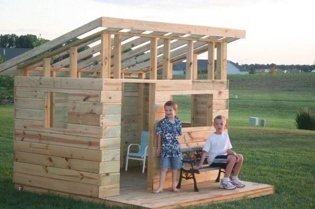 Always Wanted To Give Your Kids A Treehouse, But Missing The Tree? No  Problem, Alli From U0027Made With Happyu0027 Teaches Us How She Made This DIY Kidu0027s  Treehouse, ...