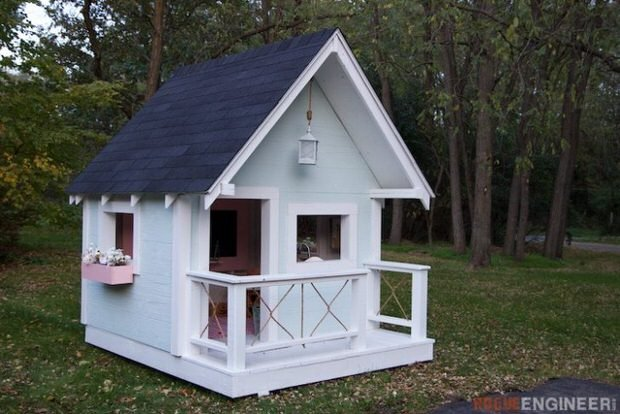 build playhouse kit cheap our new playhouse little green