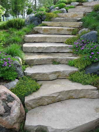 Step By Step Diy Garden Steps Outdoor Stairs The Garden Glove