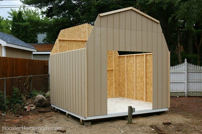 how to build a garden shed australia