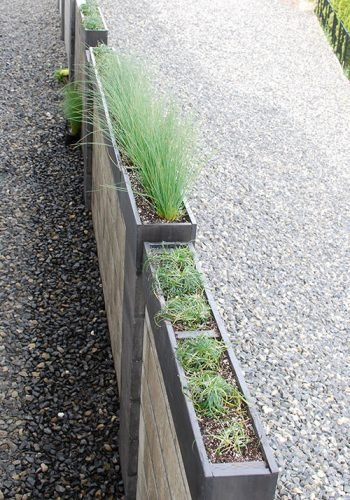 DIY Modern Outdoor Planters