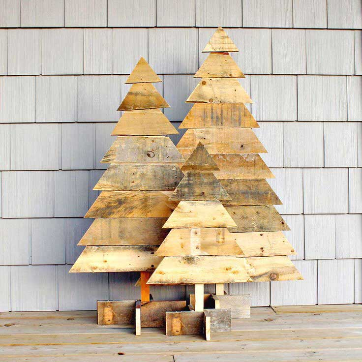 Wood Christmas Decorations.Diy Outdoor Christmas Decorations The Garden Glove