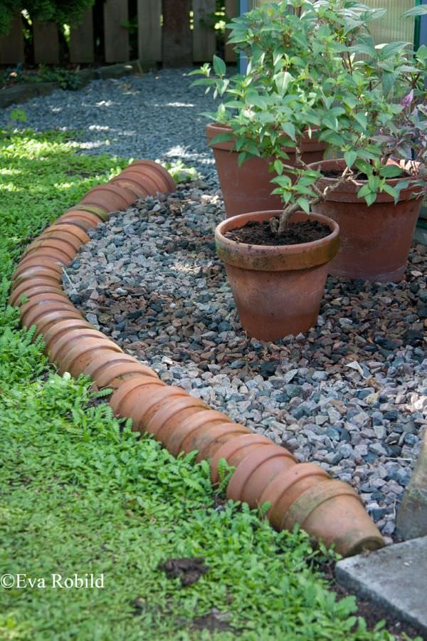 garden edging: landscape edging ideas with recycled