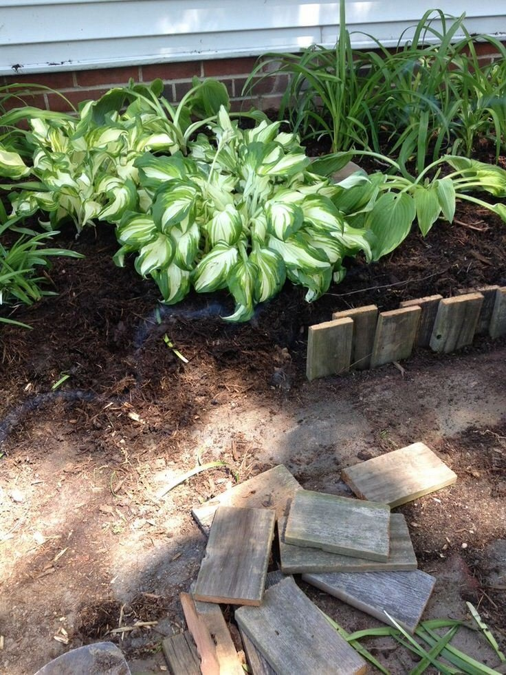 Wood landscape edging ideas