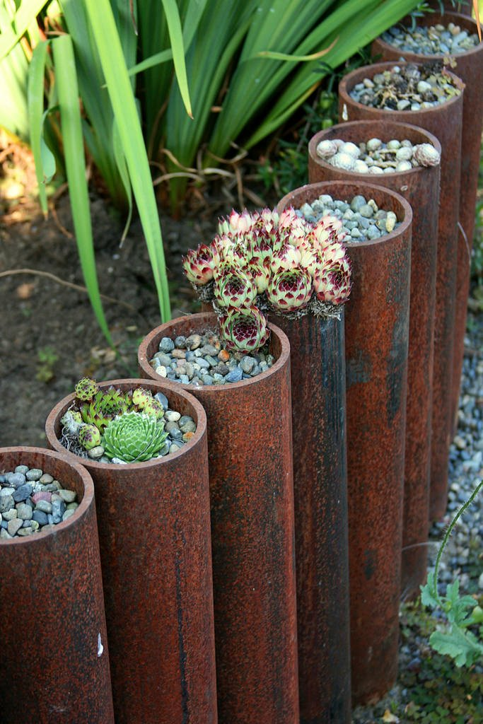 Landscape Edging Ideas with Recycled Materials