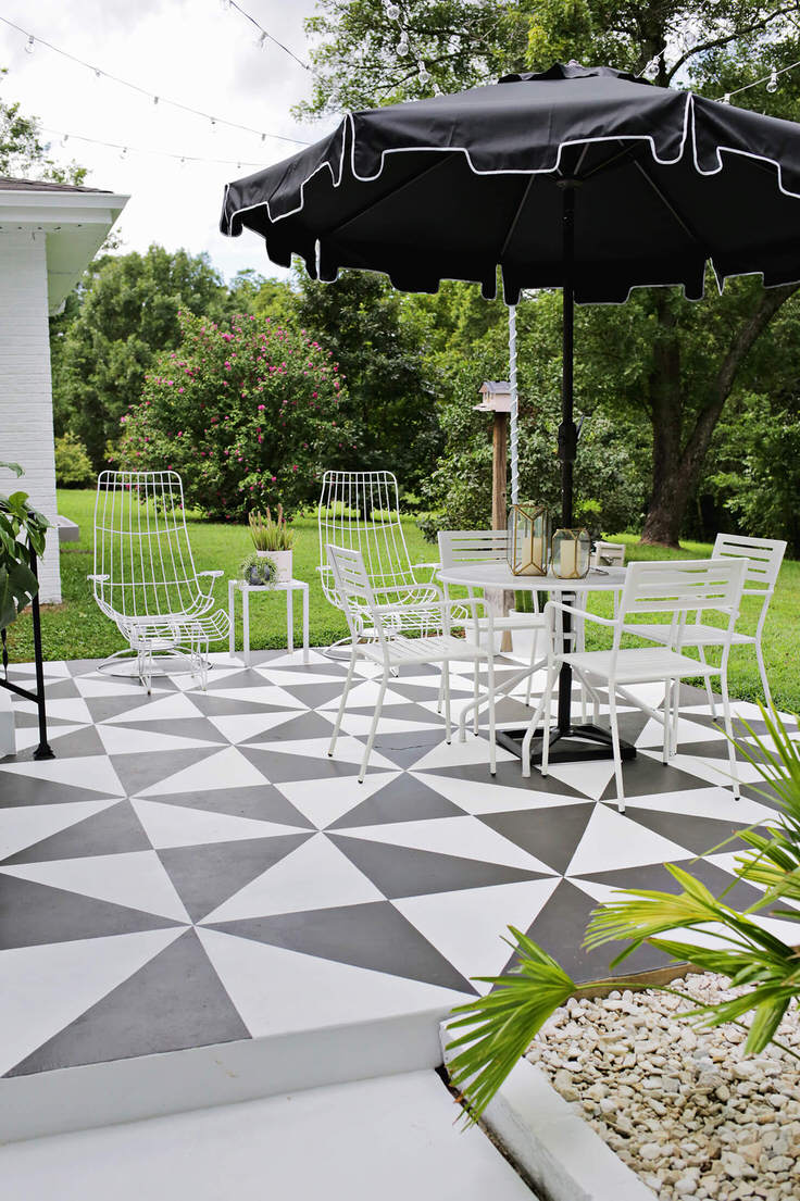 Patio ideas Backyard Visit Our Post On Patio Flooring Ideas They Have Complete Tutorial On How To Makeover That Boring Concrete Patio Into Something That Looks Likeu2026 Well The Garden Glove 15 Amazing Outdoor Patio Ideas The Garden Glove