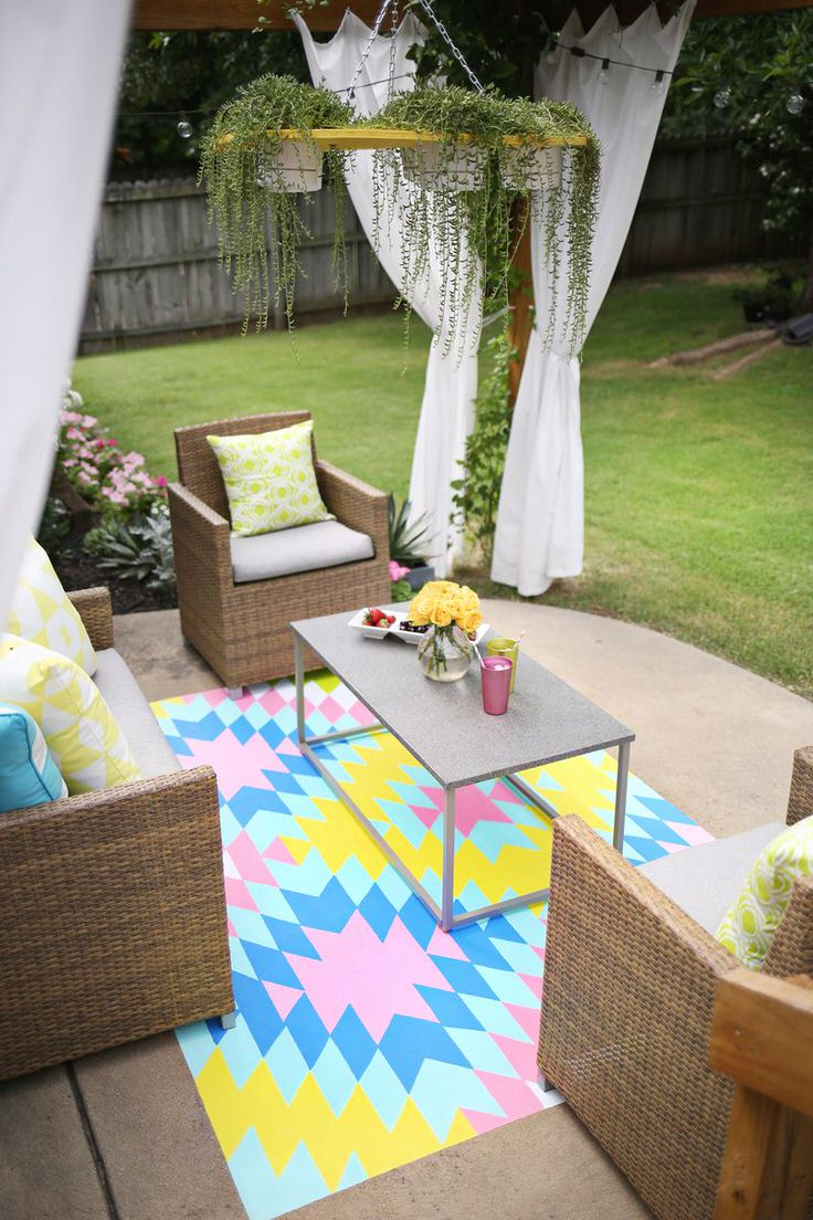 We Also Love The Outdoor Curtains And That Succulent Chandelier In This Living E Lot S Of Step By Photos Instruction If You Want To
