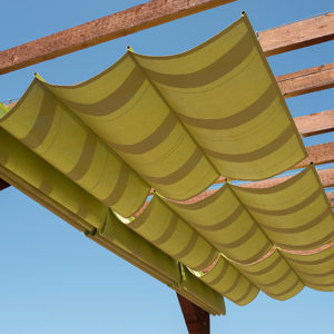 9 Clever DIY Ways for a Shady Backyard Oasis- Sliding Shade Canopy