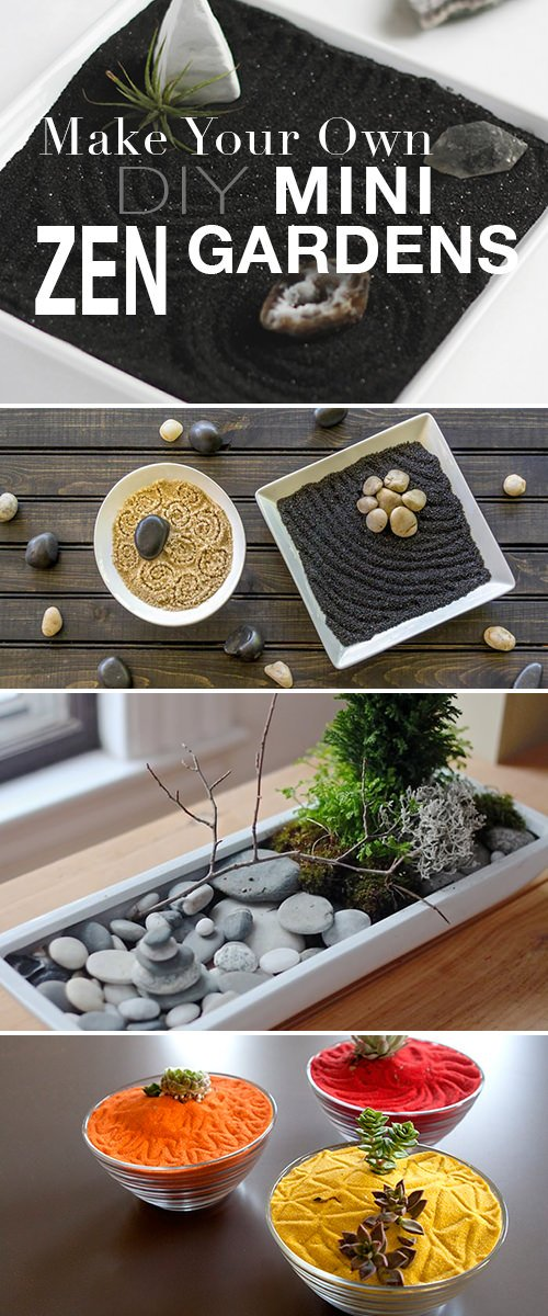 Make Your Own - DIY Mini Zen Gardens