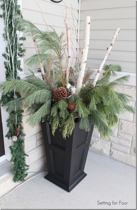 Wonderful From U00275Th And Stateu0027, This Winter Garden Planter Is A Perfect Example Of  Using Both Living Plants And Branches. This One Includes White Ornamental  Cabbage, ...