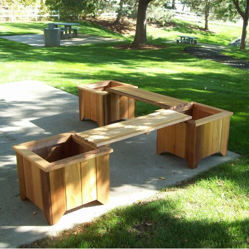Built In Outdoor Planter Ideas
