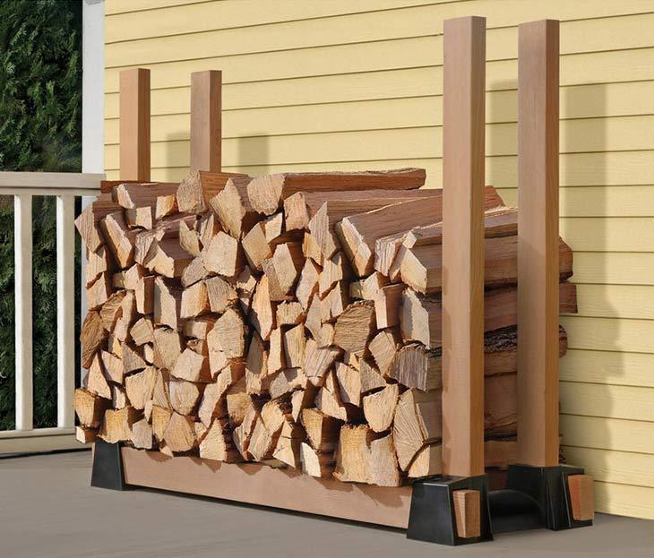 9 Super Easy DIY Outdoor Firewood Racks