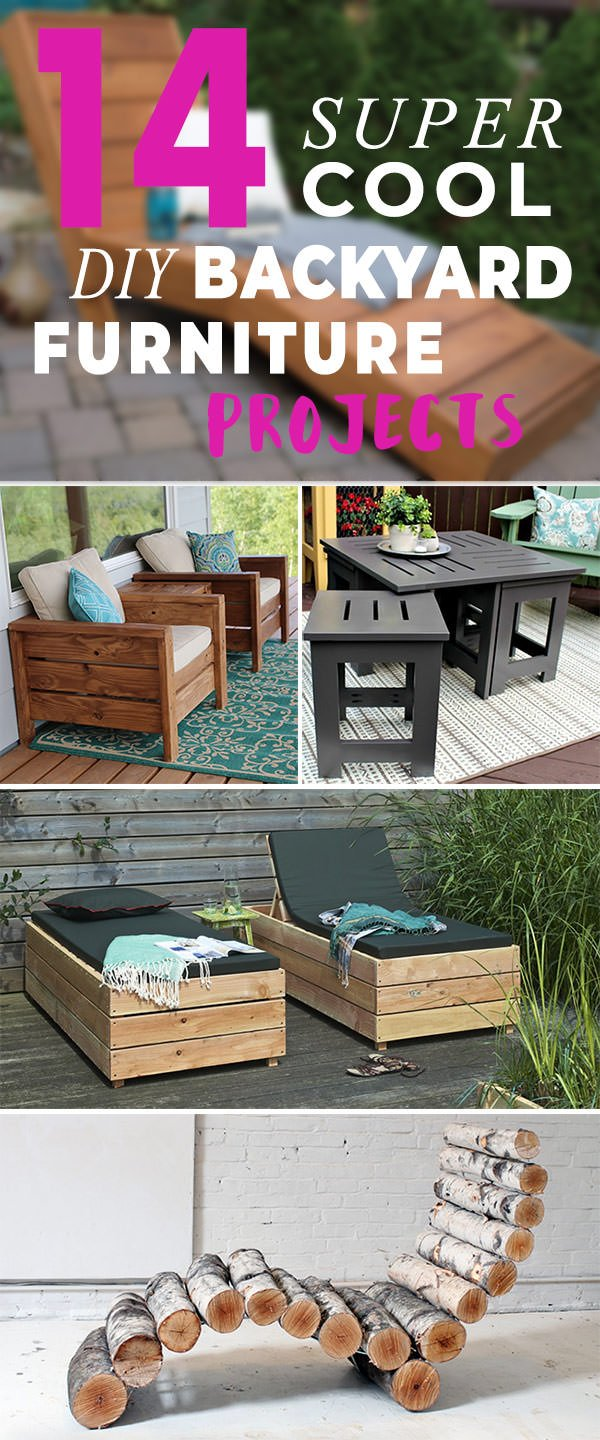 14 Super Cool DIY Backyard Furniture Projects