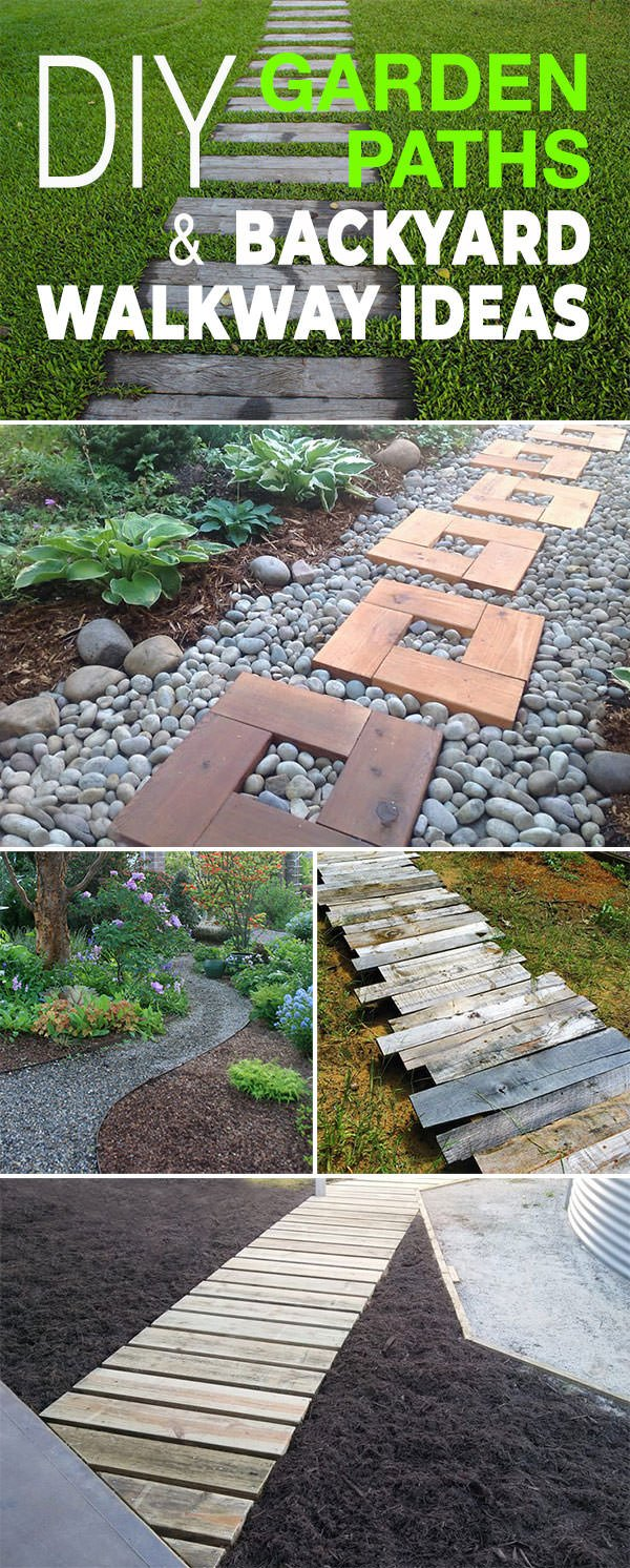 diy garden paths and backyard walkway ideas - Garden Path Ideas