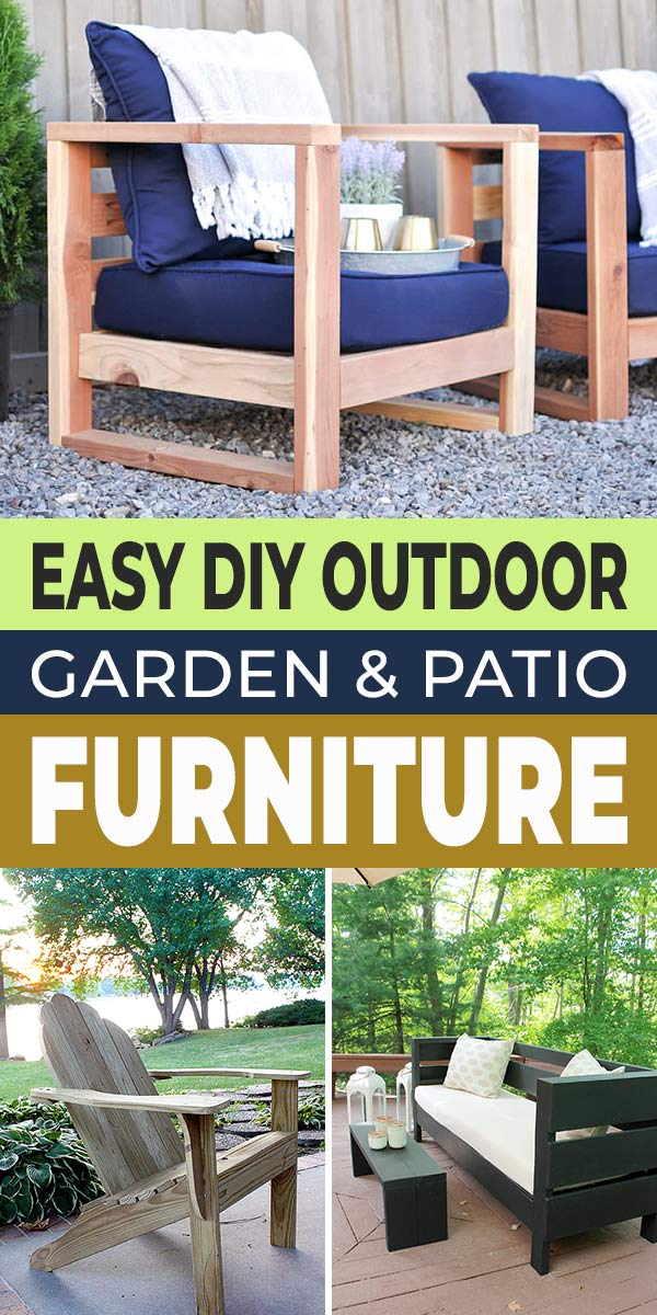 Easy Diy Outdoor Patio Furniture Plans, How To Make Simple Garden Furniture