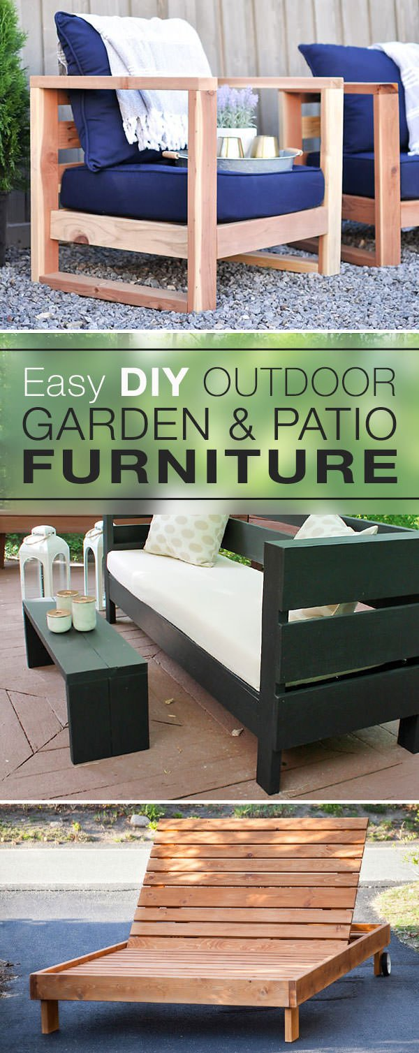 Easy DIY Outdoor Garden & Patio Furniture