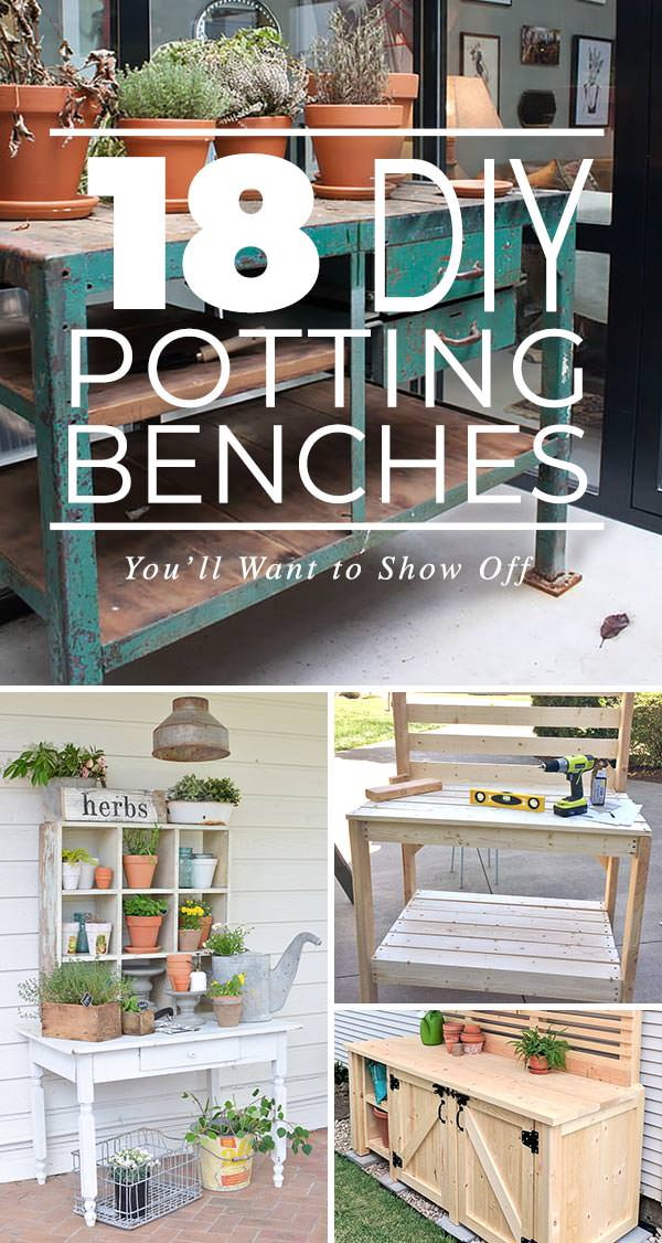 18 DIY Potting Benches You'll Want to Show Off