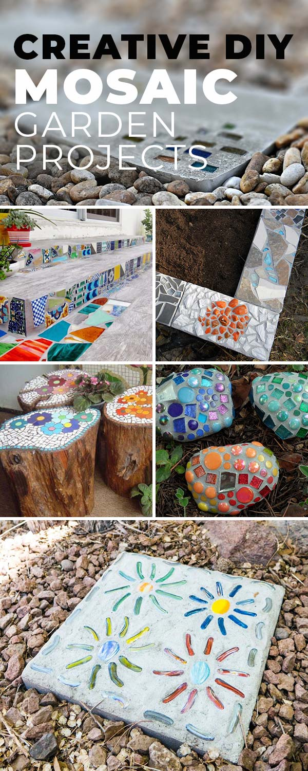 Creative DIY Mosaic Garden Projects