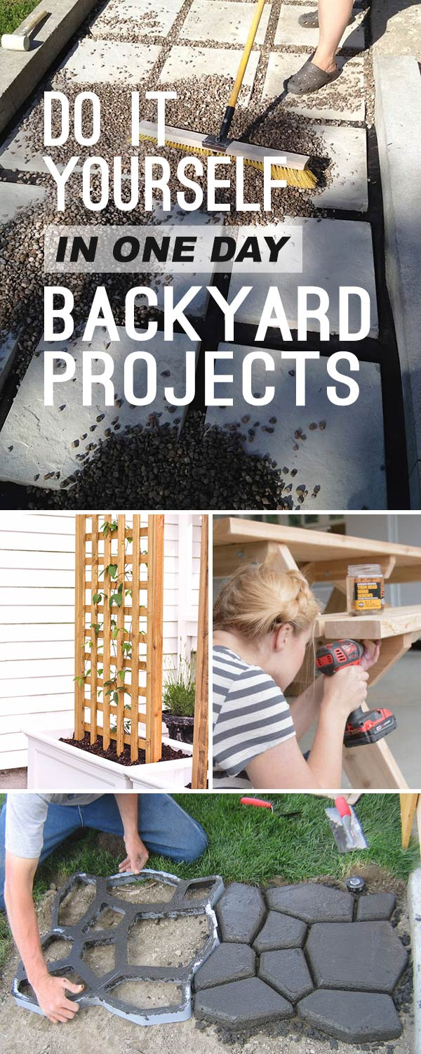 One Day Backyard Ideas & DIY Projects