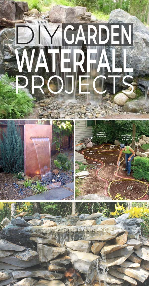 DIY Garden Waterfall Projects