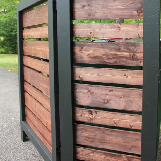 Trashy Looking Garbage Cans? Storage Ideas & Screen Projects