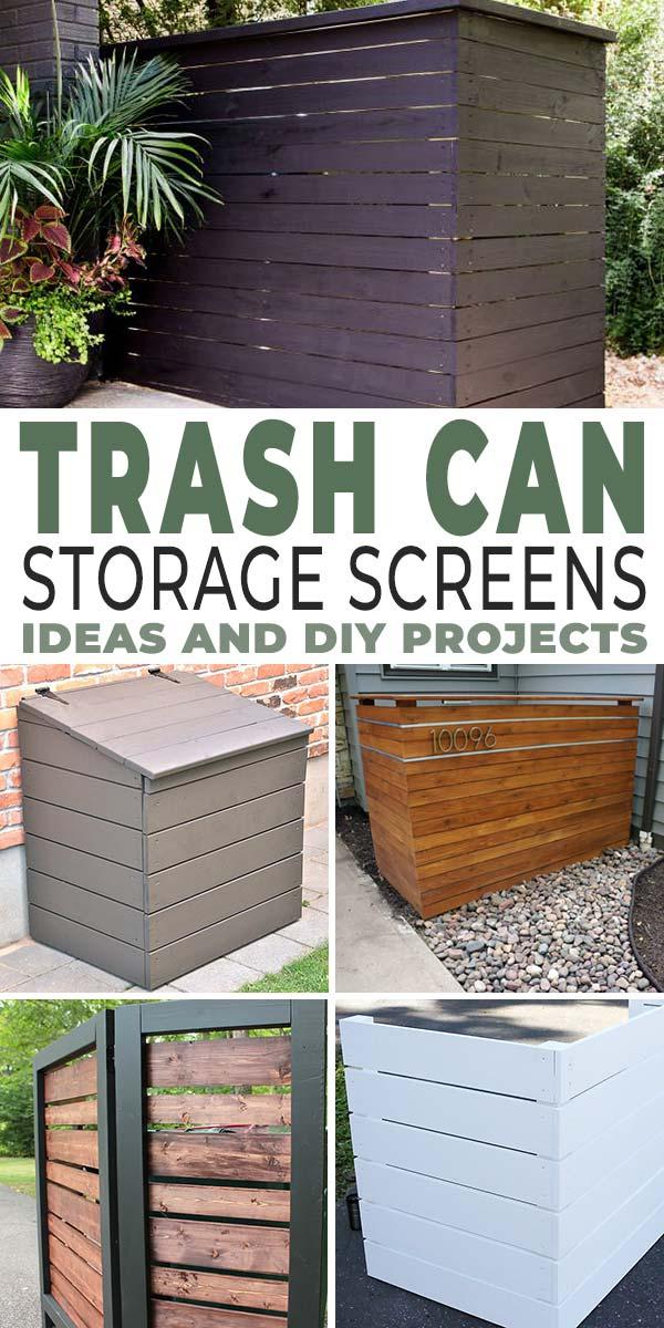 Trashy Looking Garbage Cans Storage