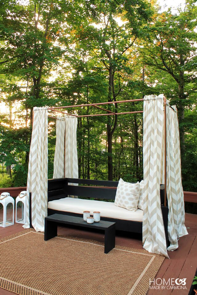 Diy Outdoor Cabanas Add A Little Resort To Your Backyard The Garden Glove,Interior Small Cottage Designs