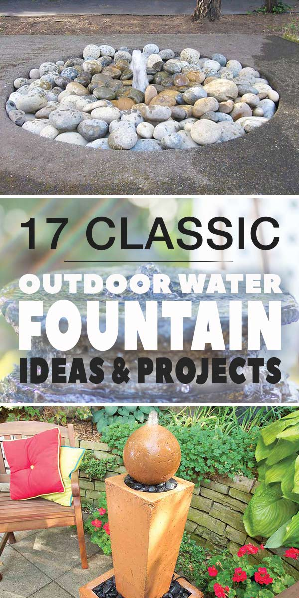 17 Clic Outdoor Water Fountain Ideas Projects The Garden Glove