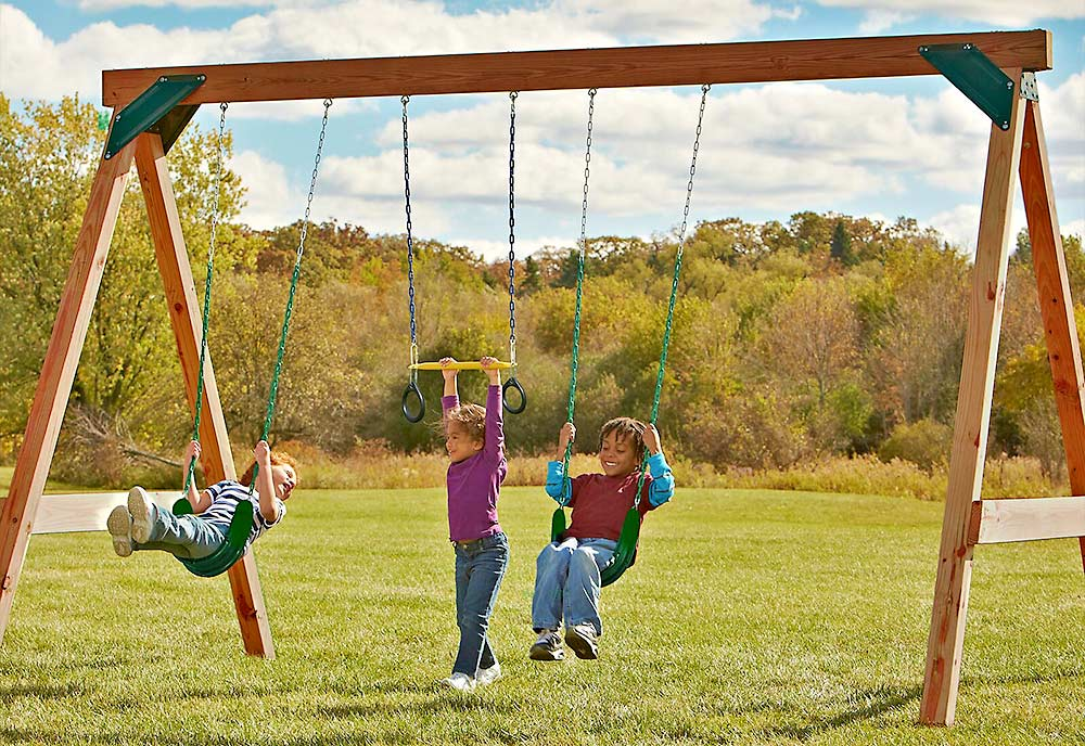 Best Diy Swing Set Plans For Backyard Fun The Garden Glove