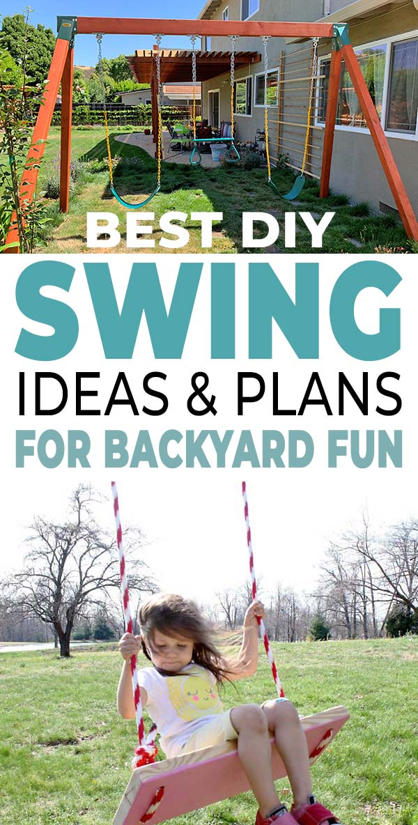 Best DIY Swing Set Plans For Backyard Fun