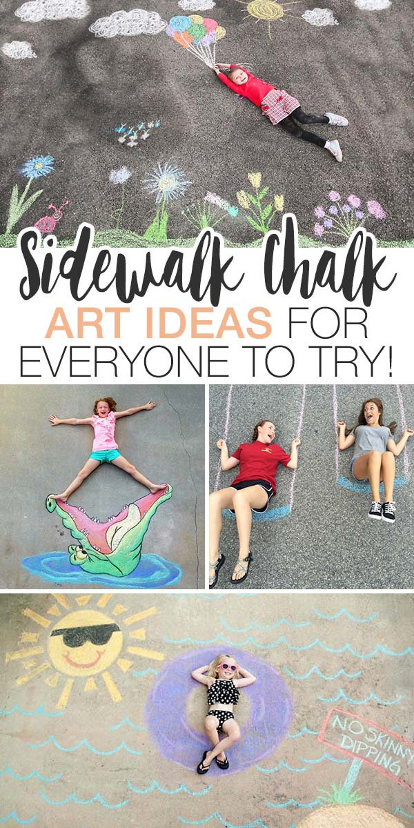 20 Easy Sidewalk Chalk Art Ideas for Everyone to Try
